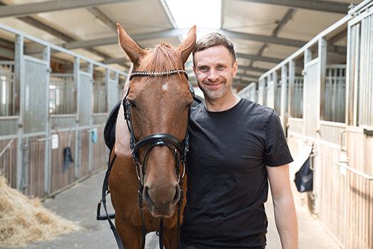Reiter Martin mit Pferd